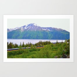 Alaska Passenger Train - Bird Point Art Print