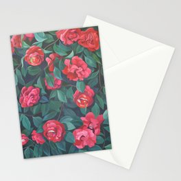 Camellias, lips and berries. Stationery Cards