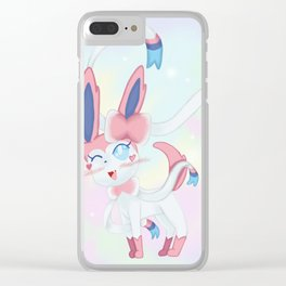 Sylveon in Pastel Space Clear iPhone Case