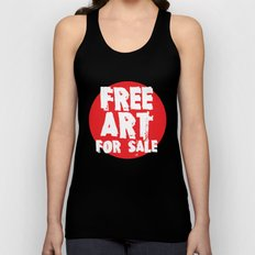 Free Art for Sale (red) Unisex Tank Top
