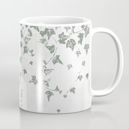 Gray Green Trailing Ivy Leaf Print Coffee Mug