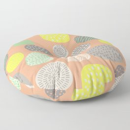 Abstract Multi-colored Circles Floor Pillow