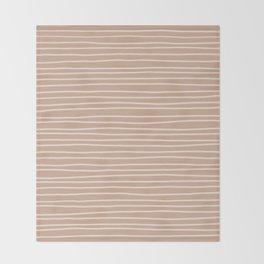 Latte Pinstripes Throw Blanket