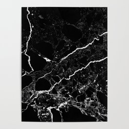 Black Marble Poster