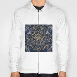 Gold Blue Mandala Star Nebula Design Hoody