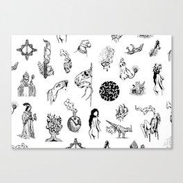 Tattoo Mix Canvas Print