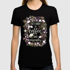 Coffee & Concealer – Spring Palette Black MEDIUM Womens Fitted Tee