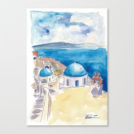 Santorini Oia View Mediterranean Dream Canvas Print