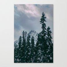 Cascade Winter Mountain Canvas Print