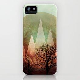 TREES under MAGIC MOUNTAINS I iPhone Case