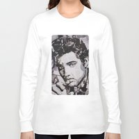 elvis Long Sleeve T-shirts featuring Elvis by Ross Collins Artist