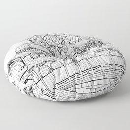 Conservatory of succulent - Black Floor Pillow