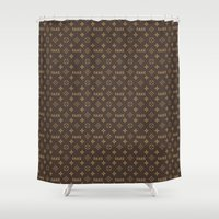 lv Shower Curtains featuring Fake LV by Rui Faria