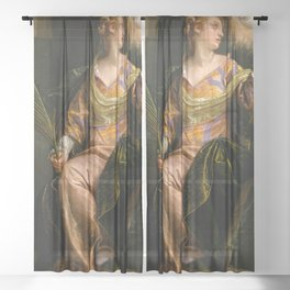 "Veronese (Paolo Caliari) ""Saint Catherine of Alexandria in Prison"" Sheer Curtain"