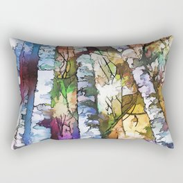 White Aspen an Birch Trees Rectangular Pillow
