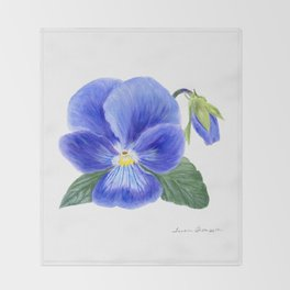 Purple Pansy by Teresa Thompson Throw Blanket