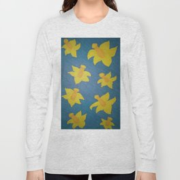 Pop Art Daffodils Long Sleeve T-shirt