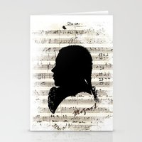 mozart Stationery Cards featuring Mozart - Dies Irae by viva la revolucion