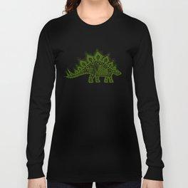 Stegosaurus Lace - Green Long Sleeve T-shirt