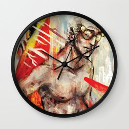 To Break or Be Broken Wall Clock