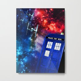 TIEmy Wimey Space Battle Metal Print