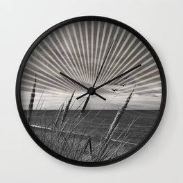 Before the storm - sunset graphic Wall Clock