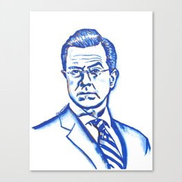 Stephen Colbert in Blue Canvas Print