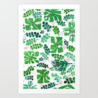 Green is the new black Art Print