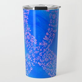 She Has Weathered The Storm (Breast Cancer Awareness) Travel Mug