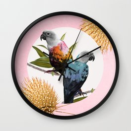 Sun Conure Parrots Wall Clock