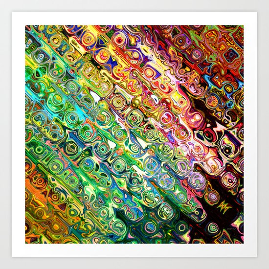 Colorful Glass Abstract Art Print