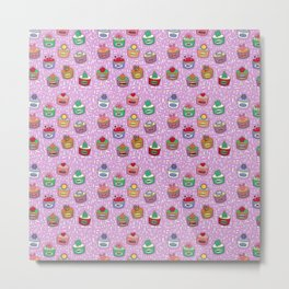 Cupcakes of the Month Metal Print
