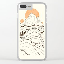 Forest Sun Cliffs Clear iPhone Case