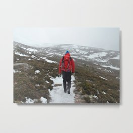 Setting off for a Scottish Expedition Metal Print