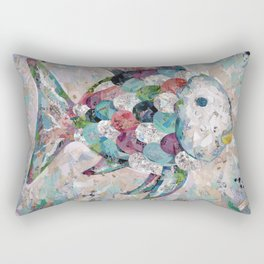Rainbow Fish Collage Rectangular Pillow