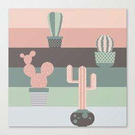 cacti colors Canvas Print
