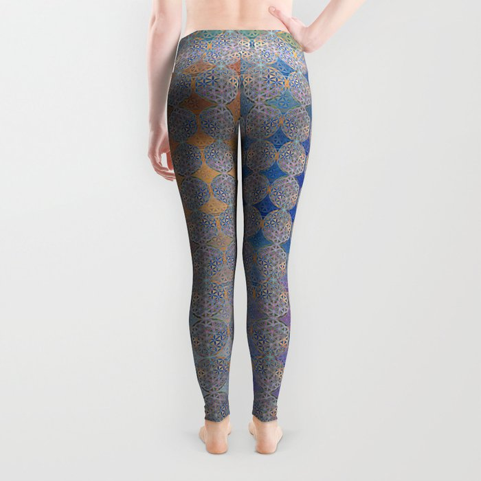 The Flower of Life in the Sky Leggings