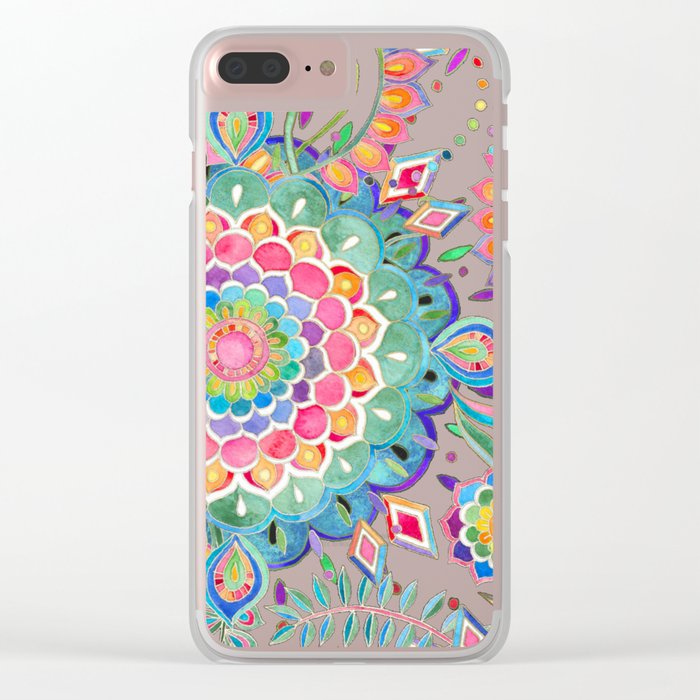 Color Celebration Mandala Clear iPhone Case