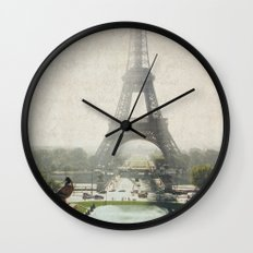 Letters From Trocadero - Paris Wall Clock