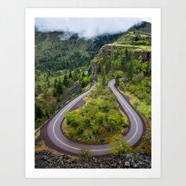 Rowena Crest Loops - Columbia River Gorge - Oregon Art Print