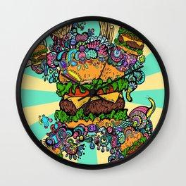 Burger monster Wall Clock