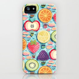 Fruity Hot Air Balloons iPhone Case