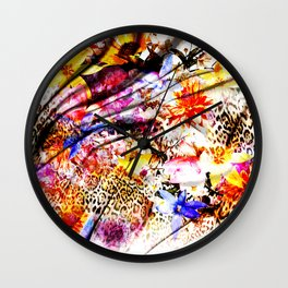 Tiger flower Wall Clock