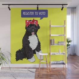 Political Pup - Regiser to Vote Wall Mural