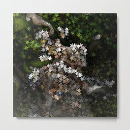 Magical Stars in the Forest Metal Print