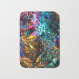 Rainbow Oil Slick Crystal Rock Bath Mat