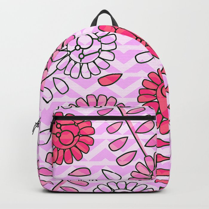 Soft pink flowers Backpack