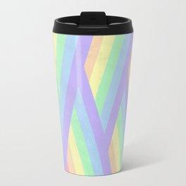 """Rainbow shine"" geometrical minimal art Travel Mug"