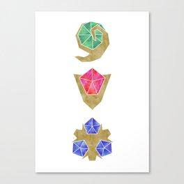 Spiritual Stones the Legend of Zelda Canvas Print