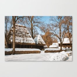 Season Greetings from a picturesque Romanian Village Canvas Print
